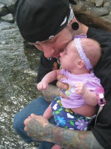 hanging out at the lake with daddy