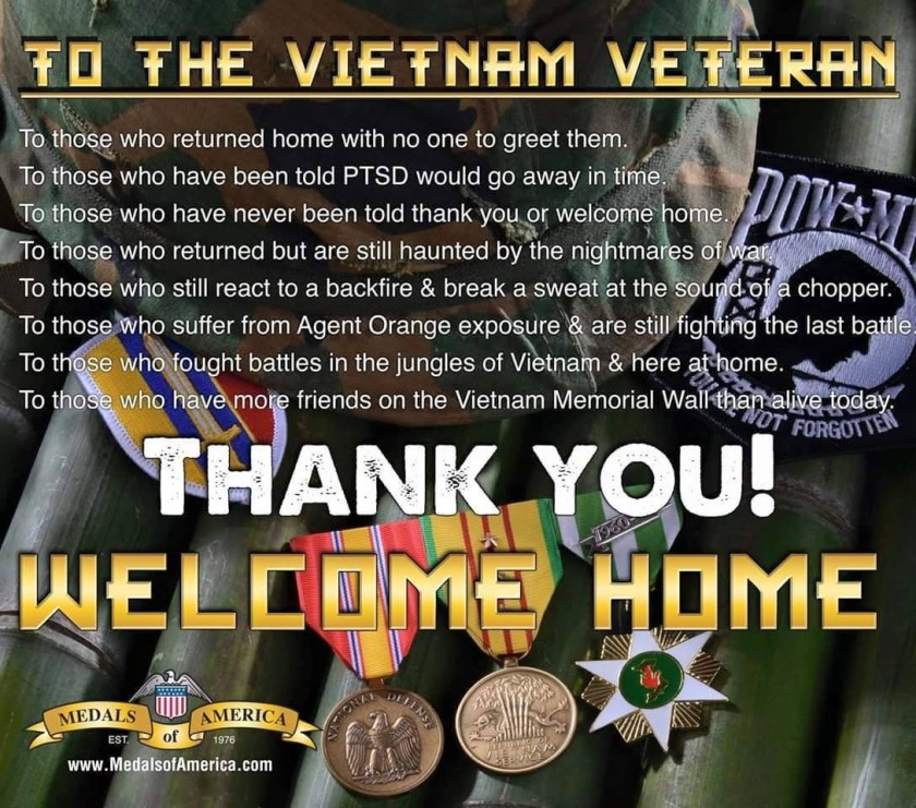 to the vietnam veteran